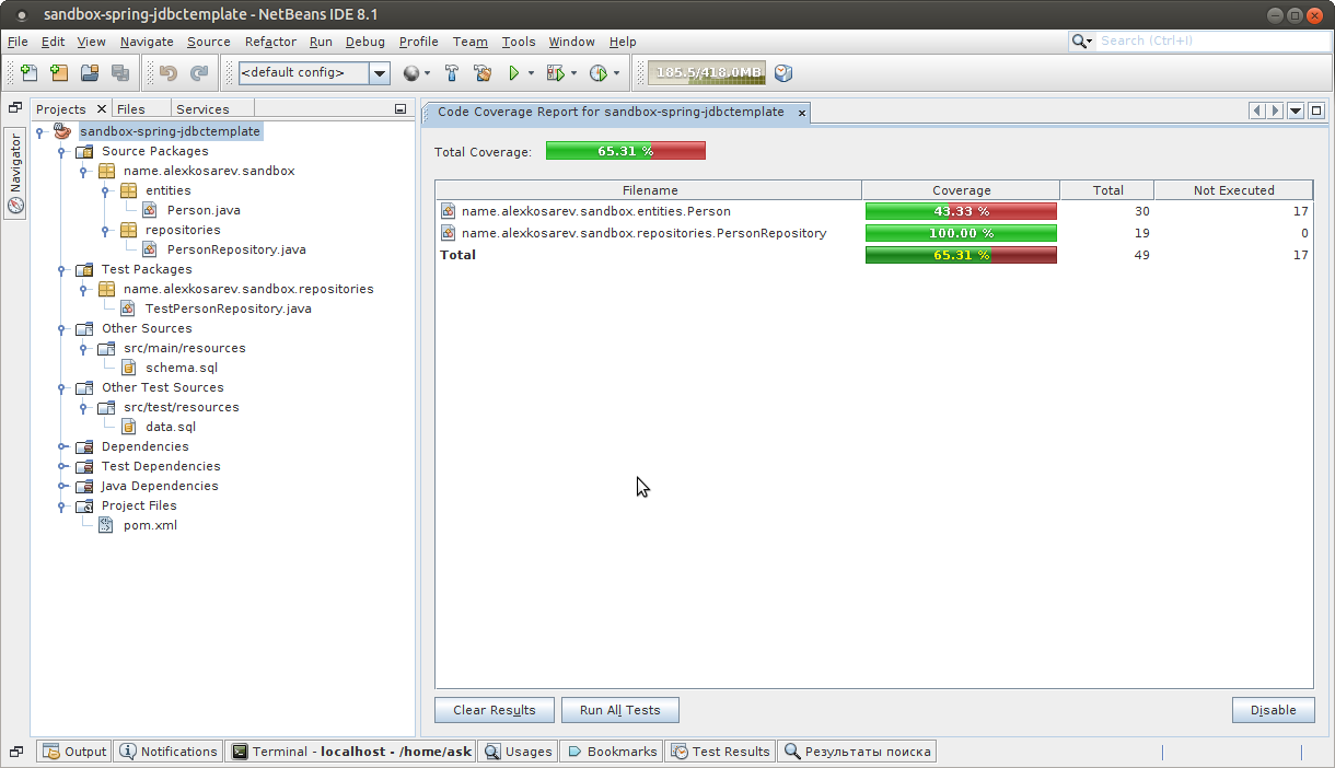 netbeans-code-coverage
